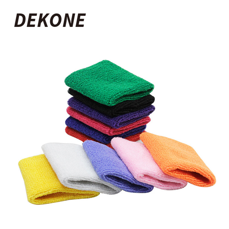 Sports Bracers 2Pcs Cotton Basketball Unisex Protect Sweatband Suit For Hockey Football Solid Color High Quality Wrist Band