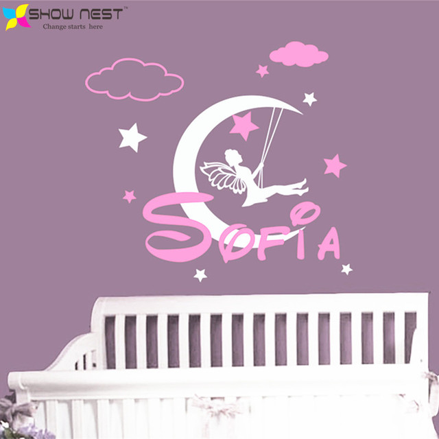 Personalized Custom Girls Name Wall Decal Vinyl Sticker - Fairy Tail Decal - Moon And Star  sc 1 st  AliExpress.com & Personalized Custom Girls Name Wall Decal Vinyl Sticker Fairy Tail ...