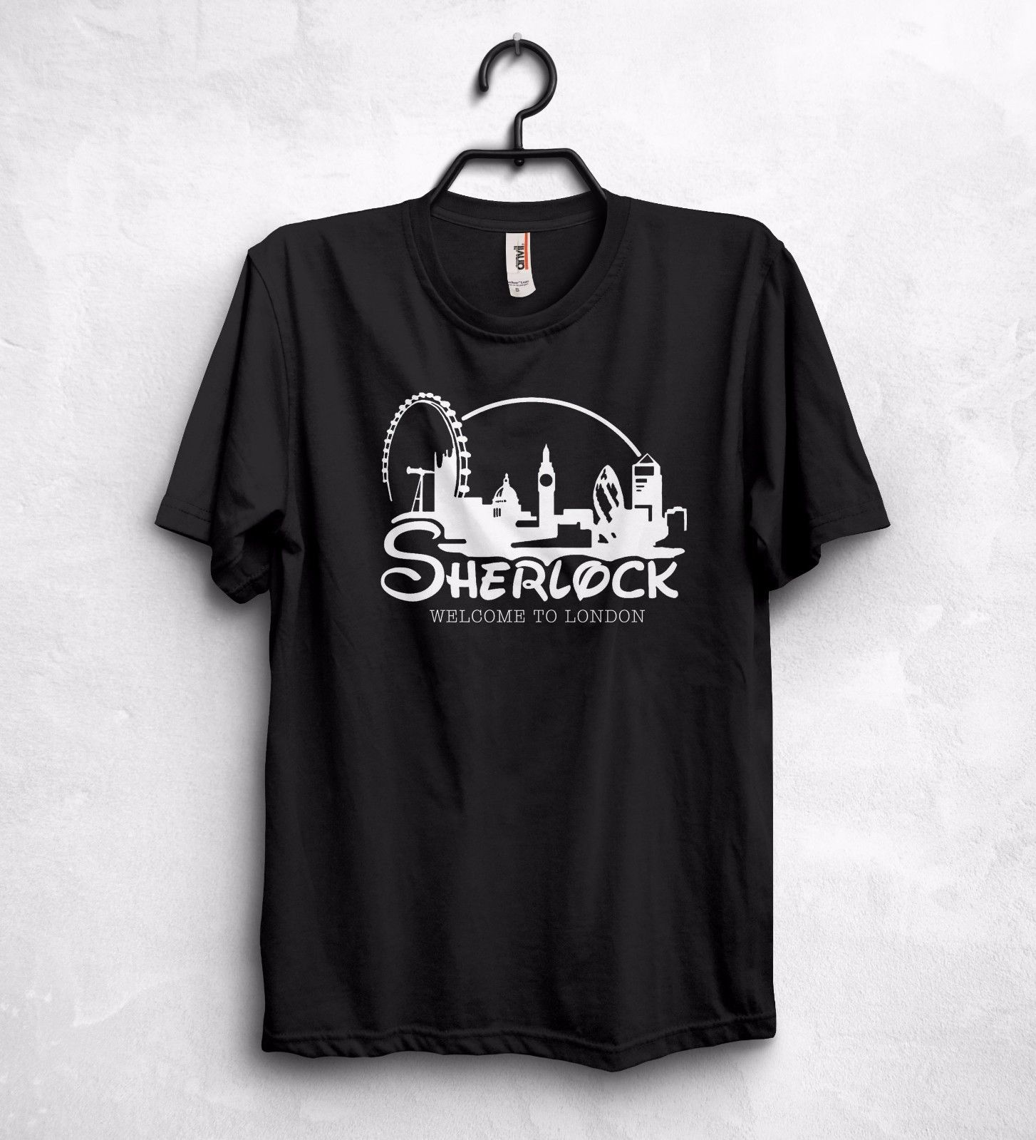 Sherlock Welcome To London T Shirt Consulting Detective I Am Sherlocked 100% Cotton Shor ...