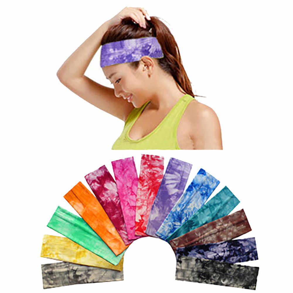 Women Cotton movement HeadbandAccessory Dance Biker Wide Headband Stretch Ribbon Cotton Hairband  Hair Drop Shipping 1a07