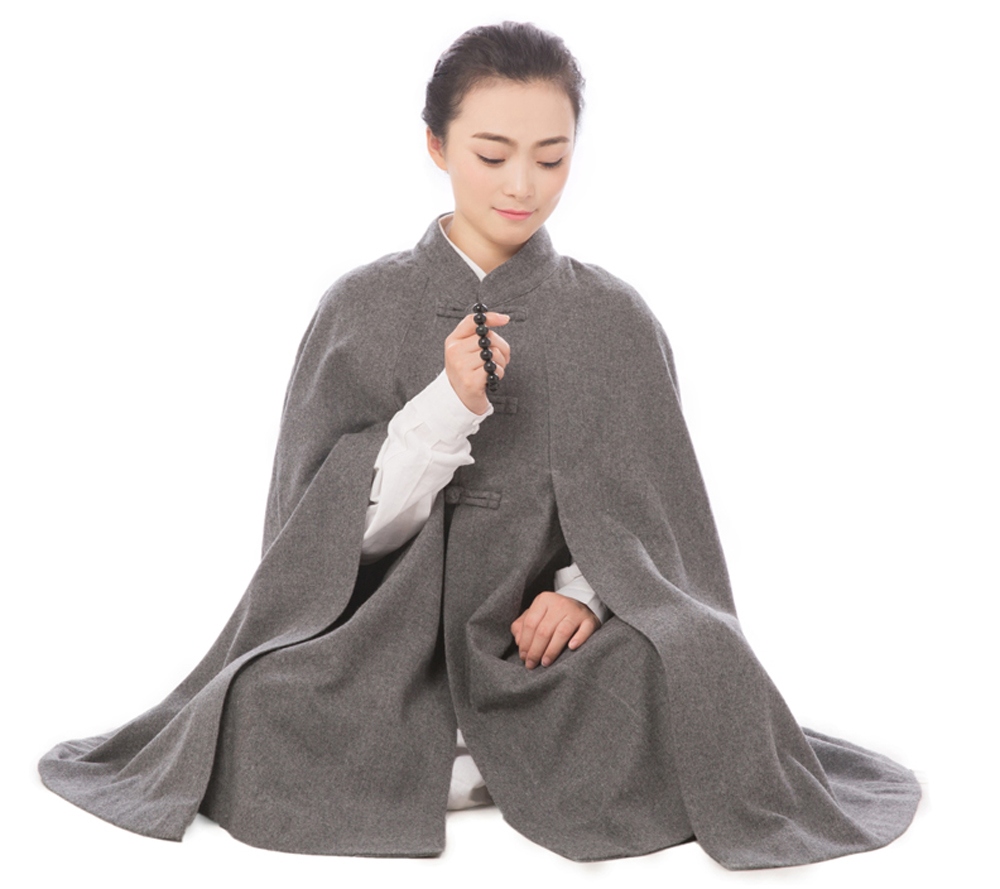2017 New 5 Colors Winter Unisex Monk Woolen Sit in meditation Cloak Costume Warm Hooded Lay Monk Uniform High Quality forum novelties men s teenz unisex costume toga