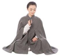 2017 Новый 5 цветов Зимняя мужская монах шерстяные сидеть в медитации плащ теплый костюм с капюшоном лежал монах униформы высокого качества