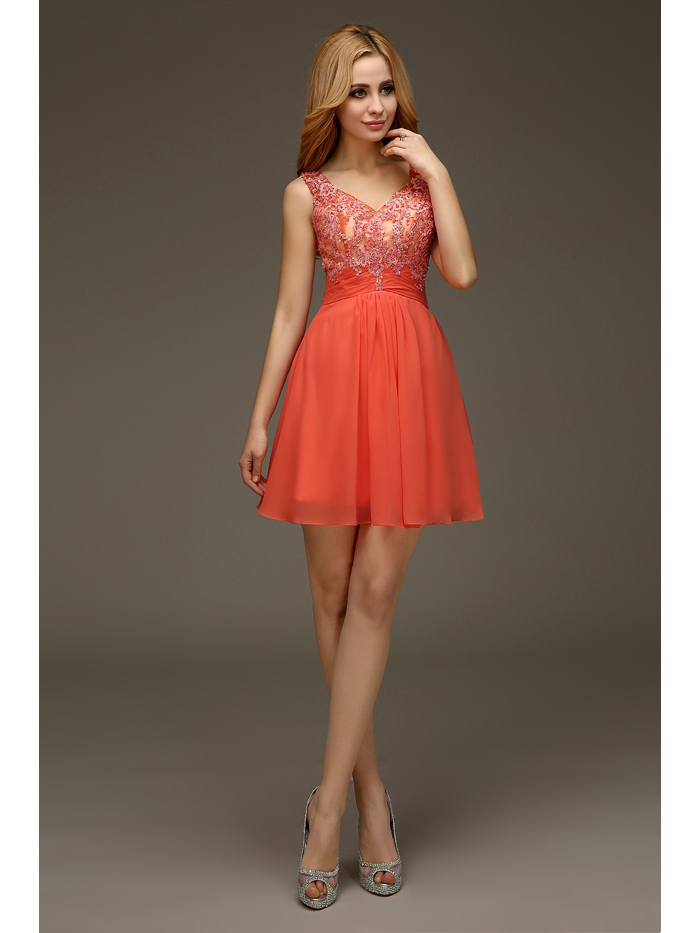 Coral colored dresses for juniors