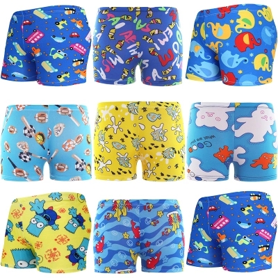 Baby Boys Cartoon Swimming Trunks Kids Swim Trunks Girls Monkey Car Print Bathing Suit Children Beach Wear Summer Swimwear