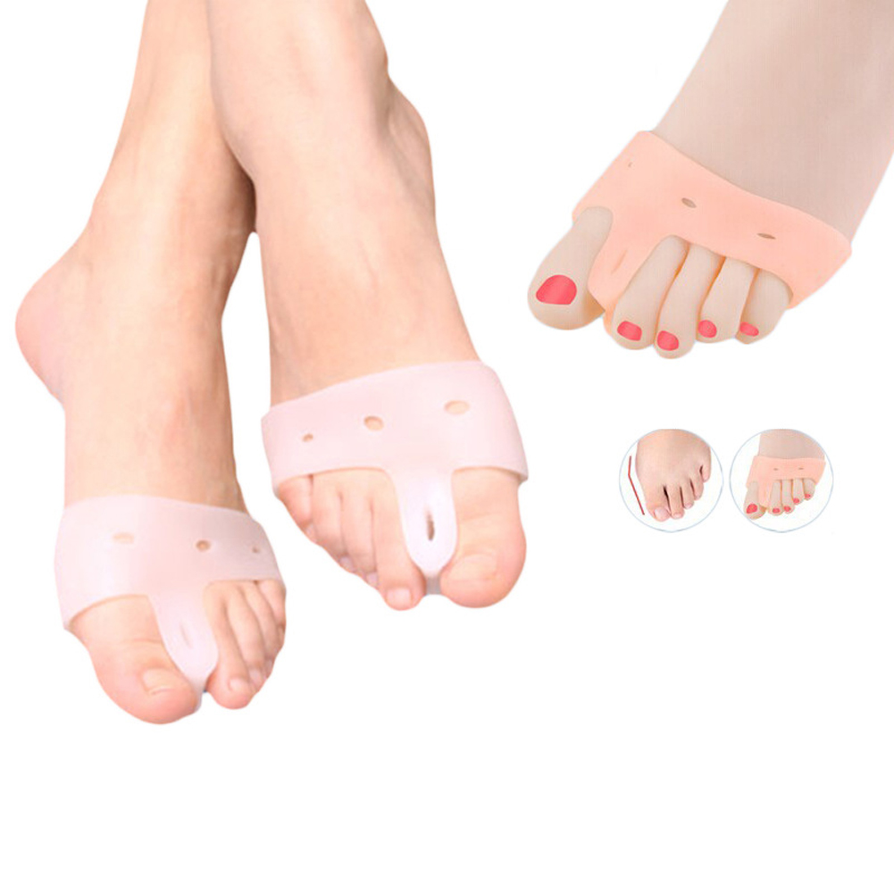 3 Pair Hot selling Silica Gel Big Toe Separator Hallux Valgus Corrector Straigntener Cushion Feet Care Shoe Insoles For Woman