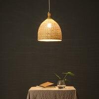 Willlustr бамбуковая Подвесная лампа для столовой гостиной корзина гостиничный зал Ресторан подвесной светильник ручной работы плетеный