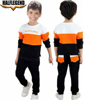 2018 Spring Kids Clothing Sets Sports Long Sleeve T Shirt Pants Boys Clothes Suits Patchwork Children