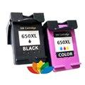 2 pk Compatible 650 ink cartridges for hp 650XL Deskjet 3515 inkjet Printer
