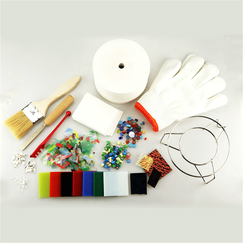 15pcs/Set Professional Extra Large Microwave Kiln Kit Tool Set Stained Glass Fusing Supplies For DIY Jewelry Glass Fusing
