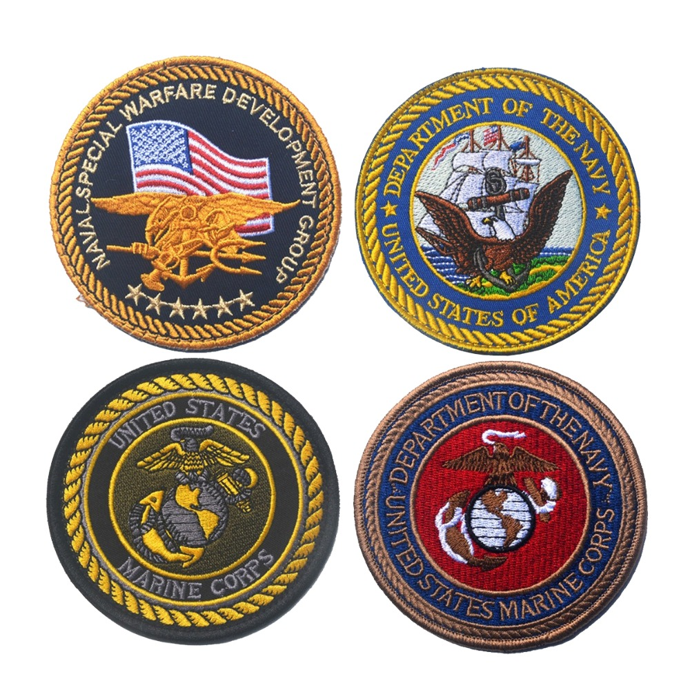 USM USN Embroidery Patch Armband Badge Military Tactical Morale Decorative Patches Sewing Applique Embellishment emblem