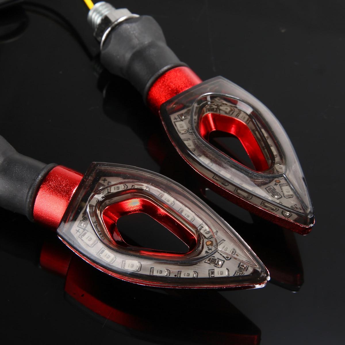 4pcs 12V Amber Yellow Universal Motorcycle Lamp LED Turn Signal Light Indicators Blinker High Quality