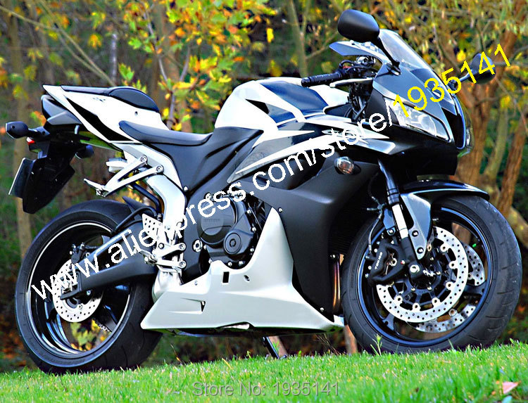 Hot sales,white black body kit for honda cbr600rr f5 2007 2008 cbr 600 rr 07 08 sport motorcycle fair