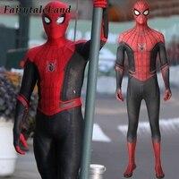 New movie Spider Man far from home Cosplay Costume Superhero Jumpsuit Spider man Fancy Bodysuit spiderman Mask Custom made