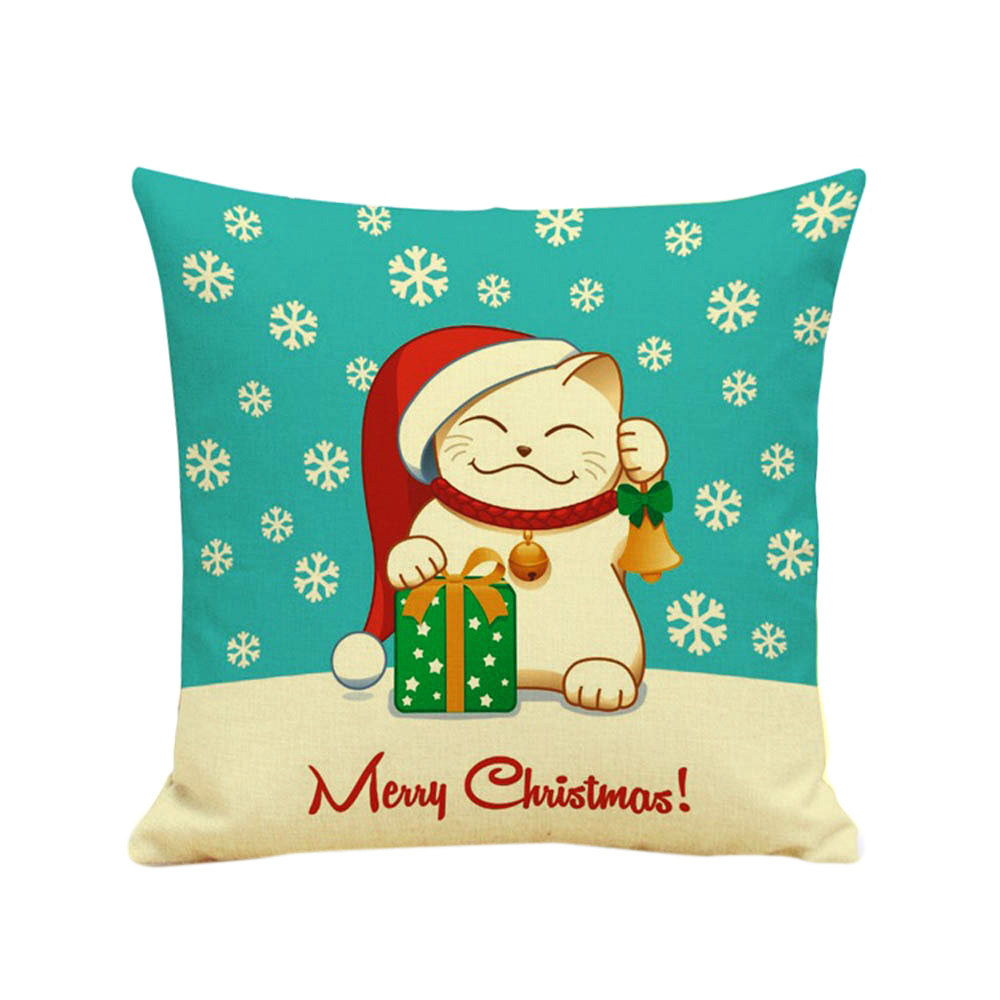 Hot sale Christmas Cartoon Sofa cushion pillow Bed Home Decoration high quality Festival Square Pillowslip Cover Cushion Cove
