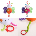 Baby Infant Animal Soft Rattles Bed Crib Stroller Music Hanging Bell Toy Butterfly  Kawaii Kids Stuffed Toys For Children Dolls