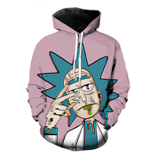 цена Men/Women Fashion Rick Morty Hoodies Long Sleeve Outwear Sportswear Tracksuits 3D Printed Pullover Hoodie Sweatshirt в интернет-магазинах