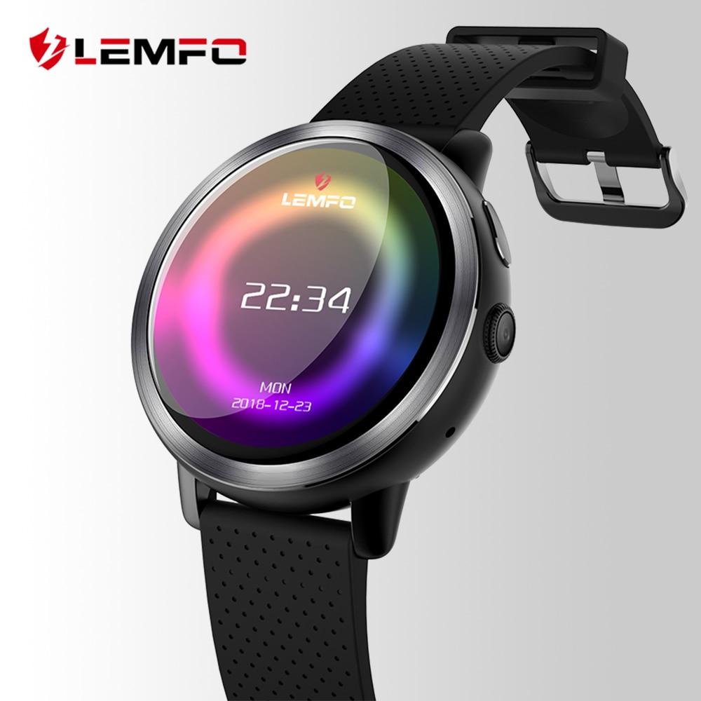 LEMFO LEM8 Luxus 4g Smart Uhr Männer Android 7.1.1 2 gb + 16 gb IP67 Wasserdichte 1,39 zoll AMOLED Bildschirm 580 mah Batterie Smartwatch