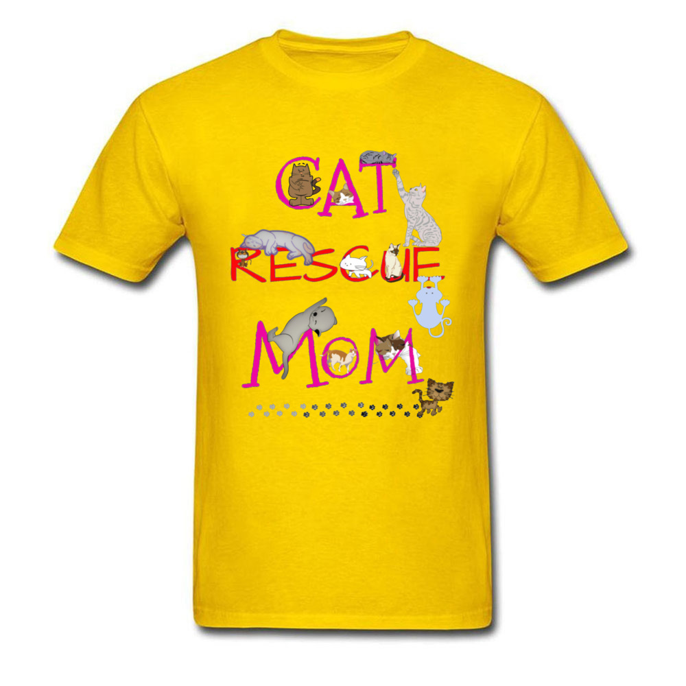 Simple Style Tops T Shirt Prevalent O-Neck Design Short Sleeve 100% Cotton Fabric Mens T-Shirt cosie T Shirt Wholesale Best Cat Rescue Mom Ever 10046 yellow