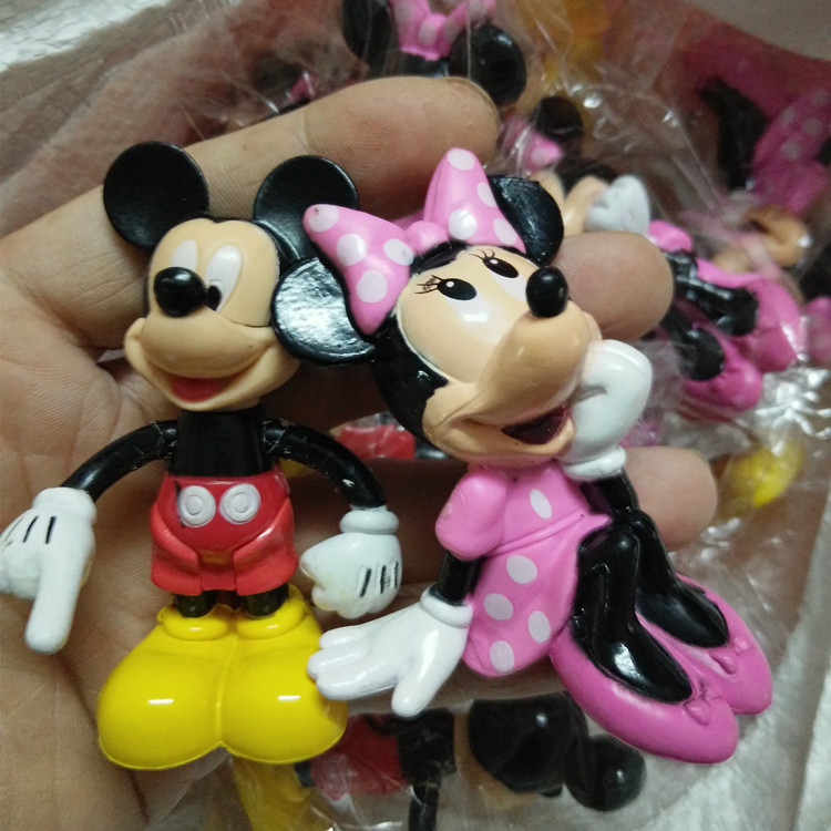 Toys Cartoon Doll Cake-Toppers Action-Figure Collections Mickey Mouse Birthday Gifts