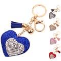 Мода Повседневная Кожа PU Кисти Любовь Сердце Кулон Брелок Сумка Кулон Ключа Автомобиля Кольца Подарок Оптовая DM #6
