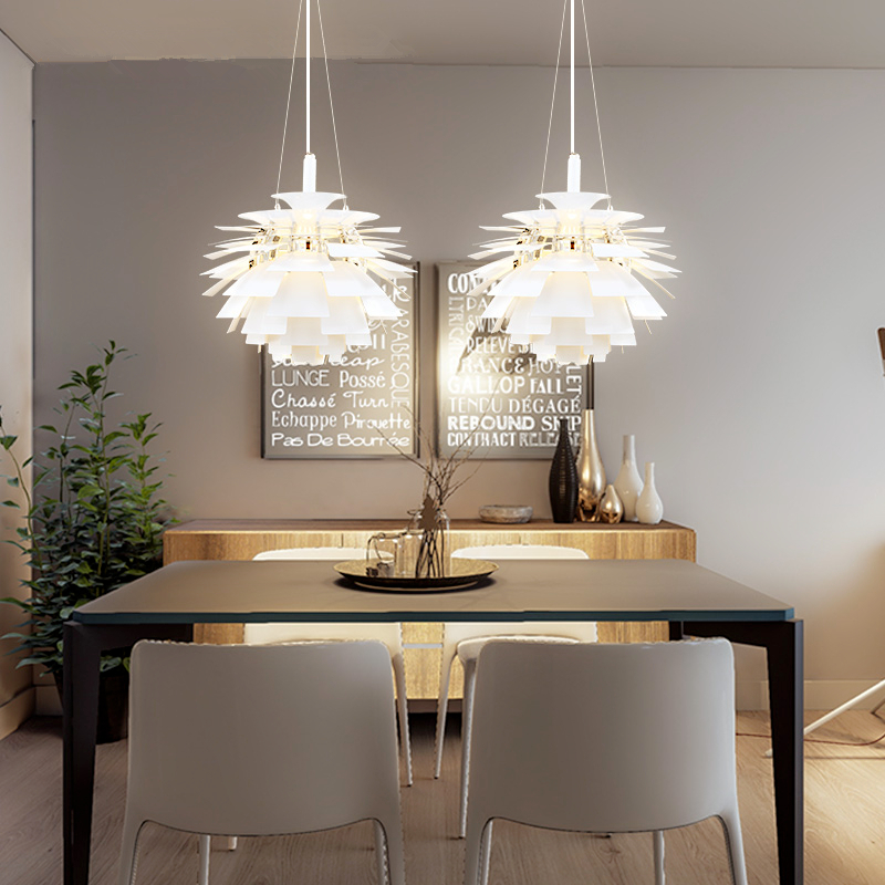 Nordic postmodern creative chandelier aluminum living room Pendant lamps dining room chandeliers hanging lights postmodern minimalist fans glass art decor chandeliers g9 6 9 heads creative pendent lights living rooms dining room bedroom