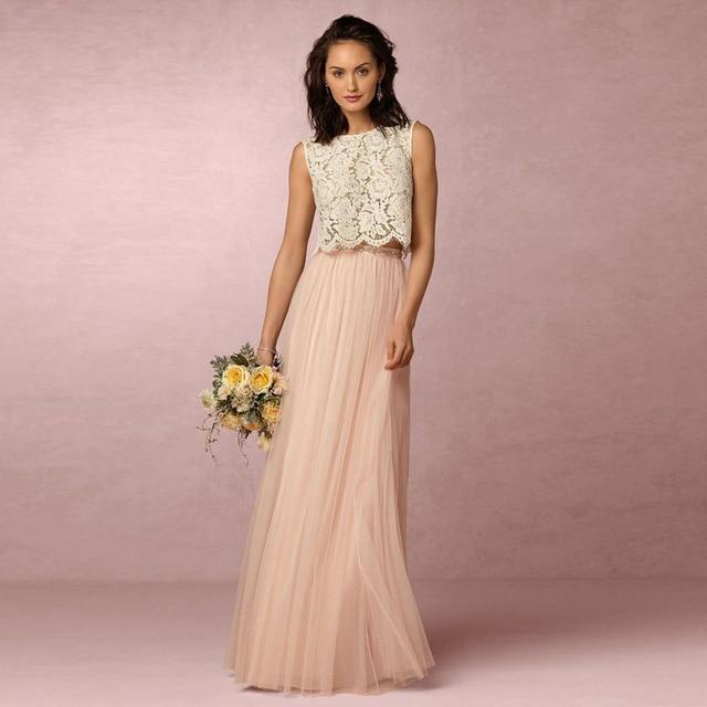Blush Pink Tulle Long Skirts High Waist Saias Longa Women A-Line Maxi Tulle  Skirt Fashion saias femininas formal faldas 1ccb80befee7