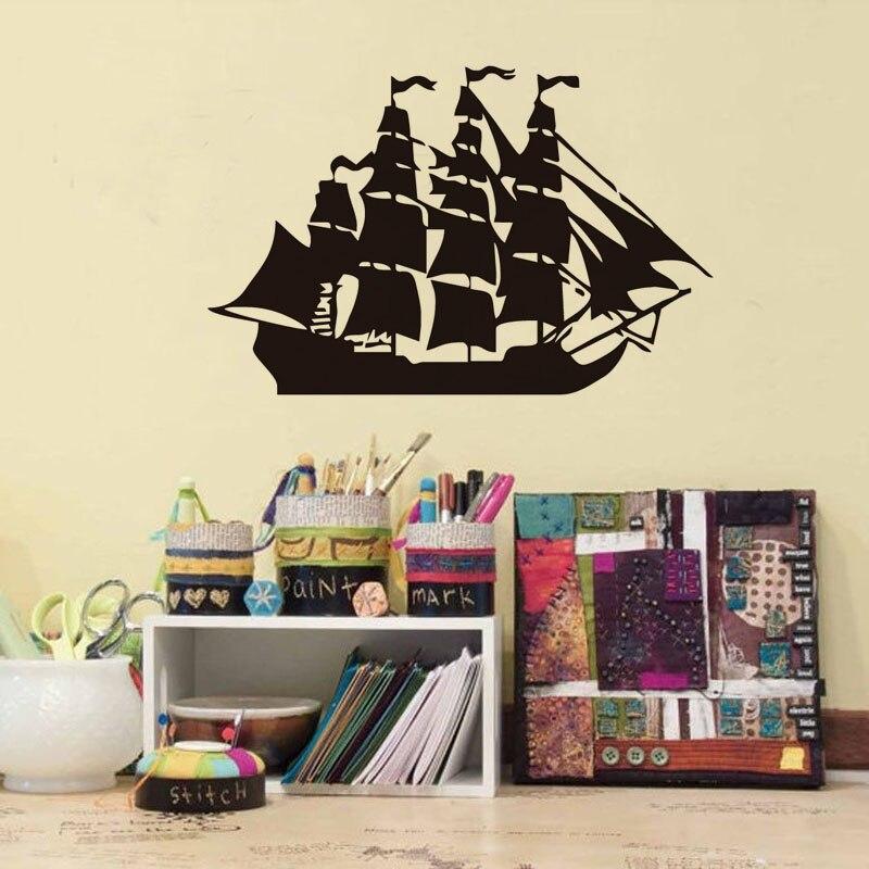 Pirate Ship Wall Sticker Children\'S Room Home Decoration Accessories ...