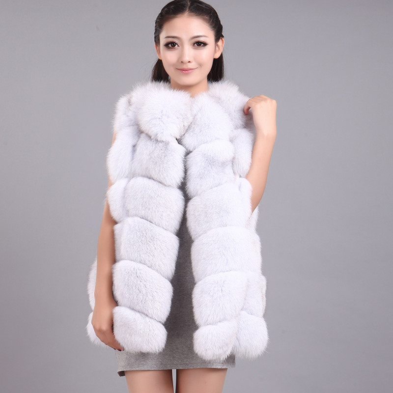 liška kožešiny liška kůžeVest 2019 zima nový dovezený celokožený kabát liška kožešinová dlouhá vesta