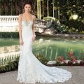 Bohemian Lace Mermaid Wedding Dress Plus Size Sexy Backless Spaghetti Strap Wedding Gown New Arrival Vestidos De Novia Ivory