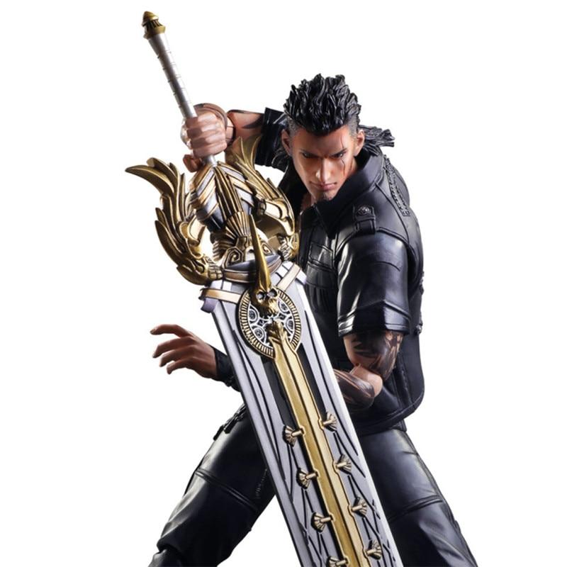 PLAY ARTS KAI Final Fantasy XV Gladiolus Amicitia PVC Action Figure Collectible Model Toy DE186 playarts kai final fantasy xv ff15 gladiolus amicitia pvc action figure collectible model toy 25cm kt3439