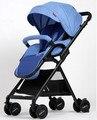 Luz cochecito de bebé puede sentarse puede ser plegado paraguas coche BB plegable cesta del paisaje paisaje