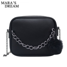 Mara's Dream 2018 Small Chain Women Bag Women Leather Handbag Women Messenger Bags PU Shoulder Crossbody Bag Ball Toy Bolsa(China)