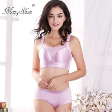 MengShan Underwear Suit Woman big size bra set CDEF Cup for Chest Wipe and Anti-smoothing plus 115F 120F
