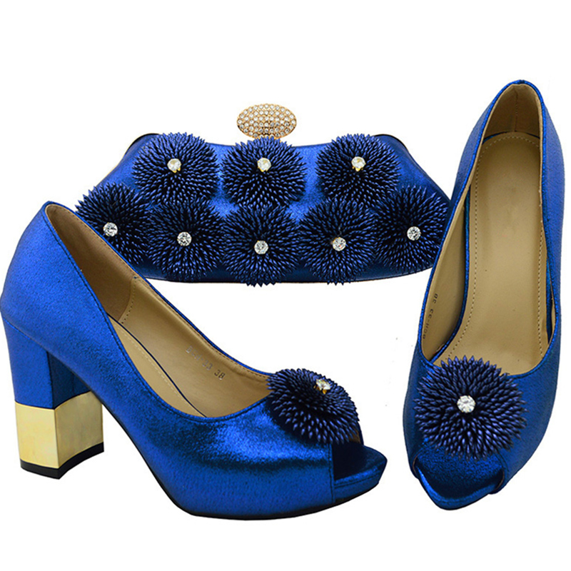 Royal Blue Party Shoes and Bag Sets Italian Shoes and Bags ...