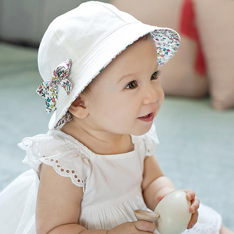 2017 Fashion Baby Girl Hats Summer Two Sided Cap Hat