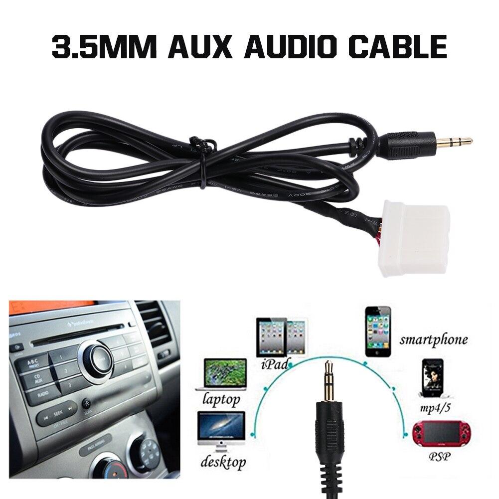 1 м премиум аудио линия DIY адаптер AUX удлинитель портативный Интерфейс адаптер аудио кабель для Mazda