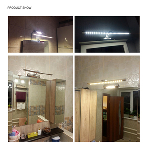 Image 2 - LUCKYLED Led Mirror Light With Switch 7W 9W 220V 110V Wall Mounted Wall Lamp Indoor Modern Bathroom Light Waterproof Stainless