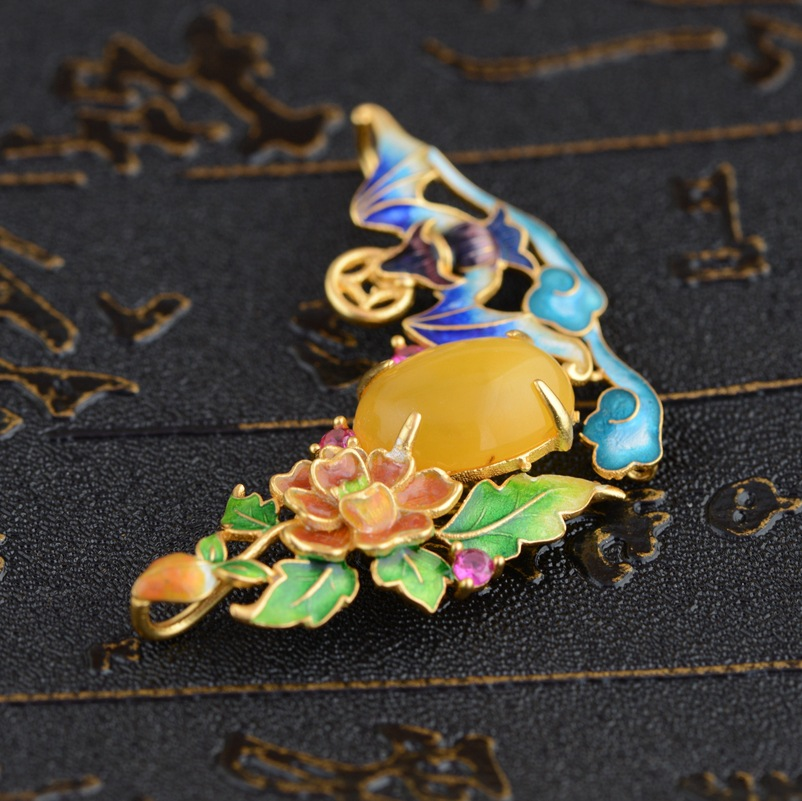 Deer king S925 Sterling Silver Pendant Jewelry beeswax blessing in front of antique Shaolan craft blossoming s925 sterling silver pendant jewelry beeswax blessing in front of the pendant antique shaolan process female models