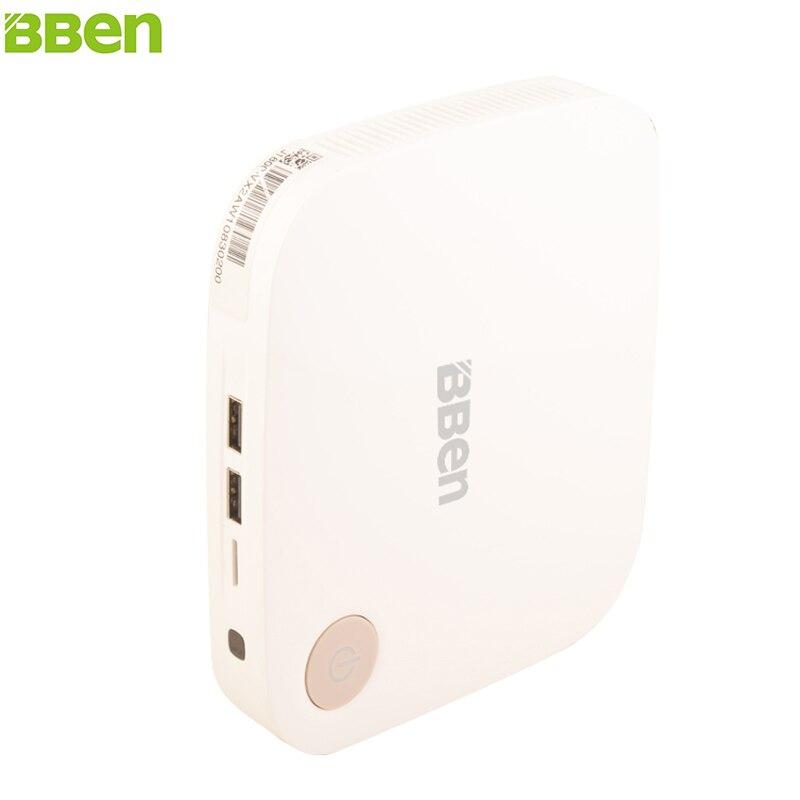 BBEN Mini PC Windows 10 Ubuntu Intel Celeron J3160 Quad Core RAM 2GB ROM 32GB HDD 500G HDMI USB3.0 VGA Port Mini Box TV Box