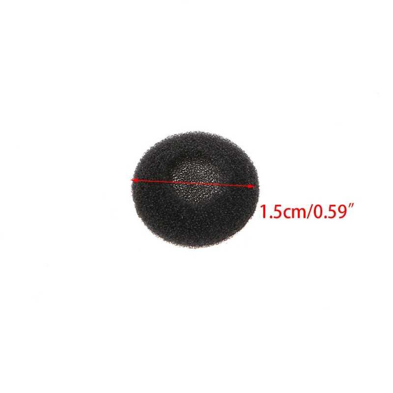 30 sztuk 15mm miękka gąbka słuchawki douszne pokrowce na poduszki do MP3 MP4 telefon komórkowy