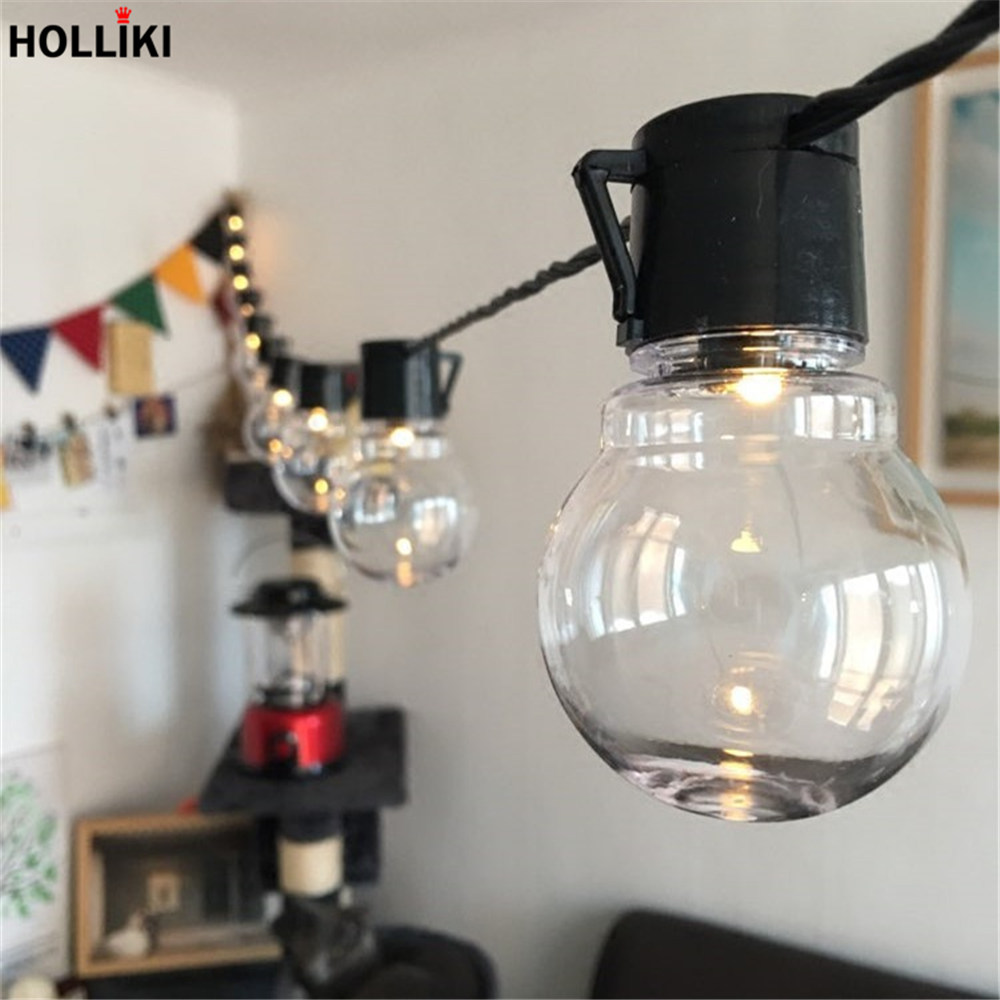Led 2o Beads 5m Vintage Bulb Wire Light Eu Plug Lights String Wiring A To Fixture Outdoor Backyard Garland Lanterns Lamp For Christmas Decor In Lighting Strings From