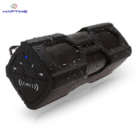 Haptime Outdoor Waterproof Bluetooth Speaker 3600mA Loudly Wireless Speaker Subwoofer Sound Box Soundbar with Power Bank