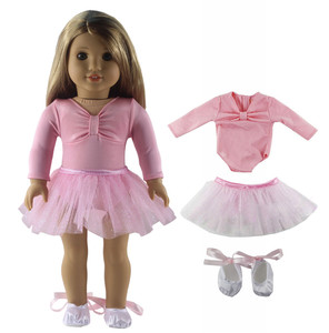 Image 2 - 1 סט בלט חצאית בובת בגדי עבור 18 אינץ אמריקאי בובה בעבודת יד אופנה יפה בגדי X04