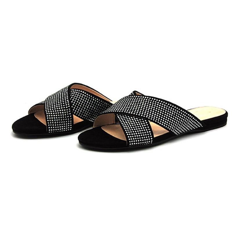Woman Rhinestone Beach Sandals Schuhe Frauen 2018 New Arrival Summer Fashion Slip on Shoes Plus Size 36-39 BUZIYUN Brand крем inverma frauen для нее 20ml