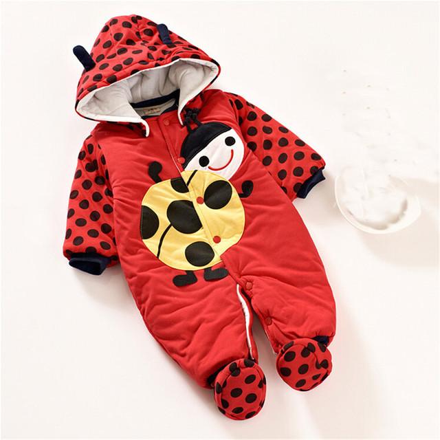 New 2016 outono inverno romper do bebê produtos do bebê recém-nascido dos desenhos animados casacos crianças desgaste do bebê de algodão macacão de bebê menino geral