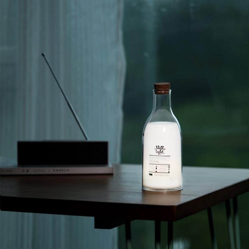 LED Night Light Bedroom Milk Bottles Sleep Table Lamp Bulb For Children Baby Cute Feeding Bedside Lamps