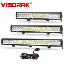 VISORAK 5D 20″ 23″ 28″ Offroad LED Light Bar 210w 240w 300w Spot Food LED Work Light Bar For 4WD 4x4ATV SUV Jeep Truck 12v 24v