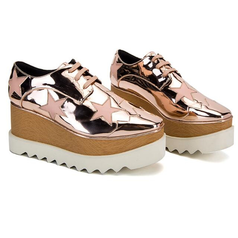 Piste Étoiles Femmes Feminino Picture Creepers Coins High As Lacent Plate as Rose Designer Chaussures Tenis Causalité Top forme IwExvP