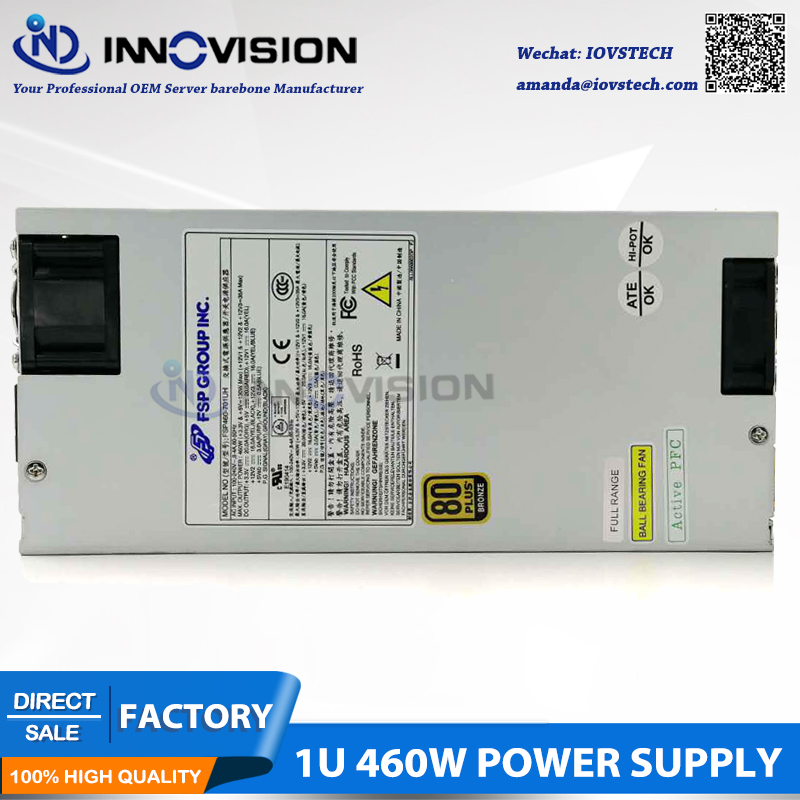 US $108 0 |High efficiency FSP GPOUP INC  1U 460W server power supply  computer workstation pc psu-in PC Power Supplies from Computer & Office on