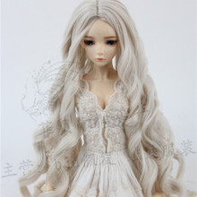 Luodoll Sd bjd кукла парик 1/3 в суб-керлинг колокольчик Лилия Голубая волна 3 точки 60 см волосы куклы